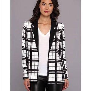 NWOT Stylestalker Plaid Black and White Blazer